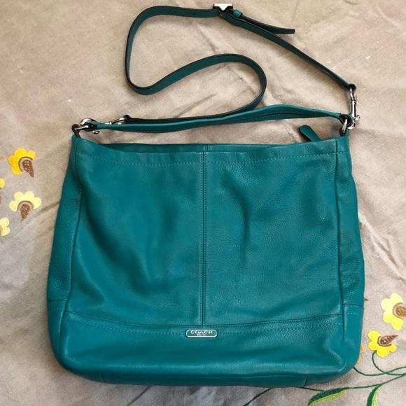 Coach Handbags - {Coach} Authentic Teal Large Sachel